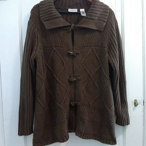 Villager by Liz Claiborne Chocolate Knit Cardigan